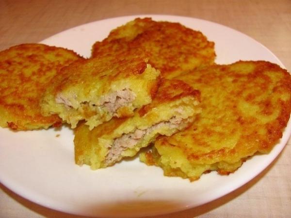 Белорусские драники картофельные с мясом рецепт с