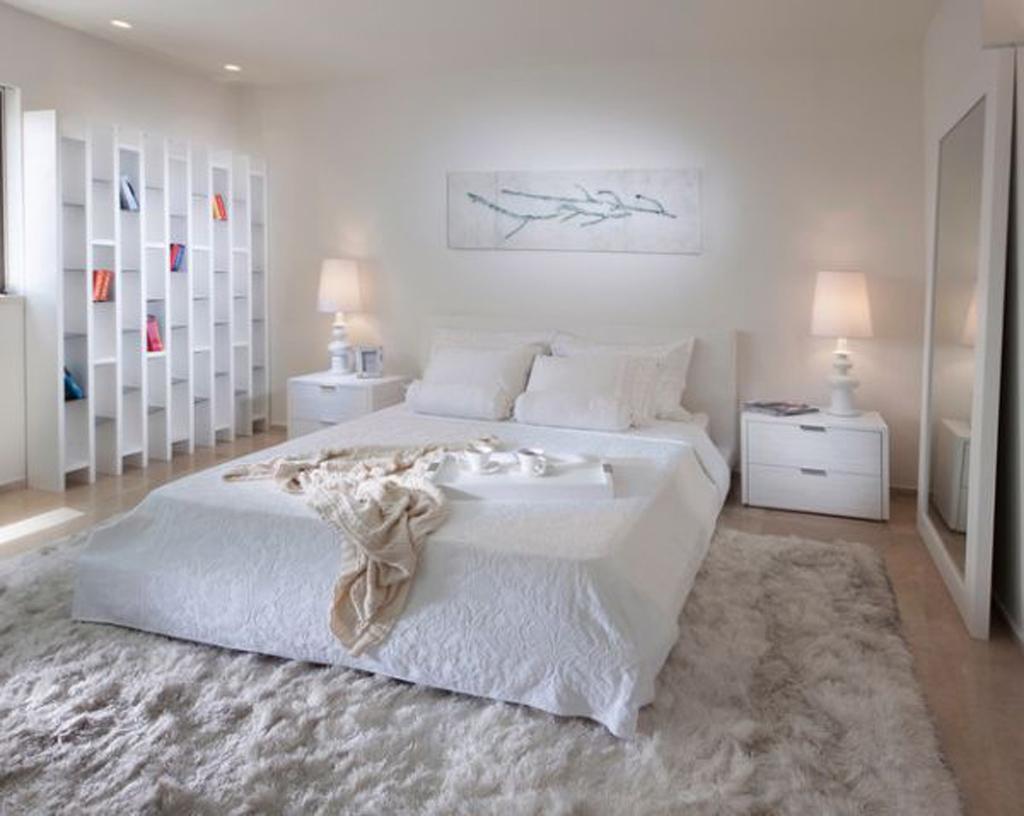 изящная белая спальня