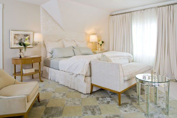 интерьер, фото белой спальни