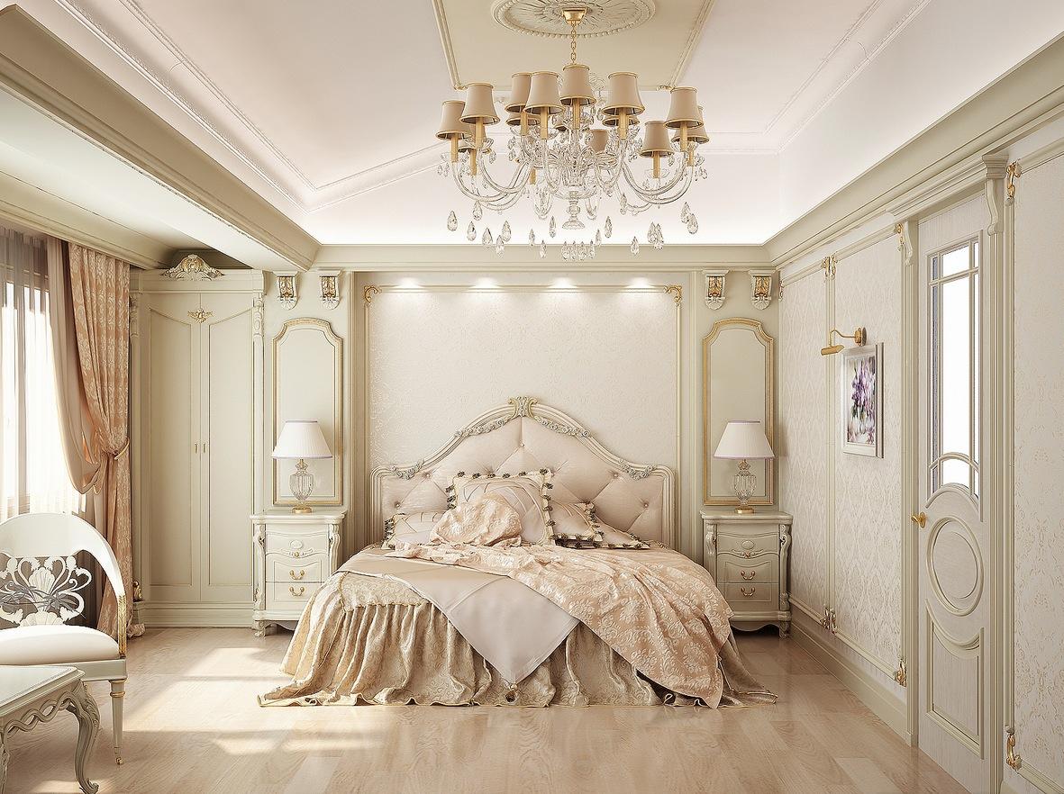 очень бежевая спальня
