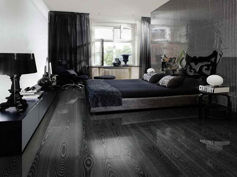 спальня черный цвет