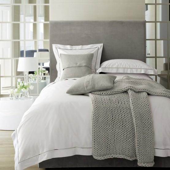 спальня серого цвета - оформление интерьера