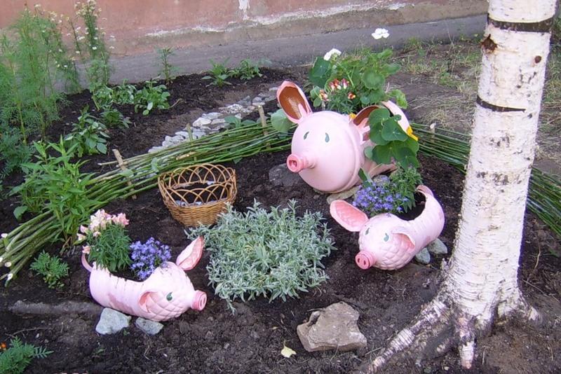 Как украсить сад своими рукам