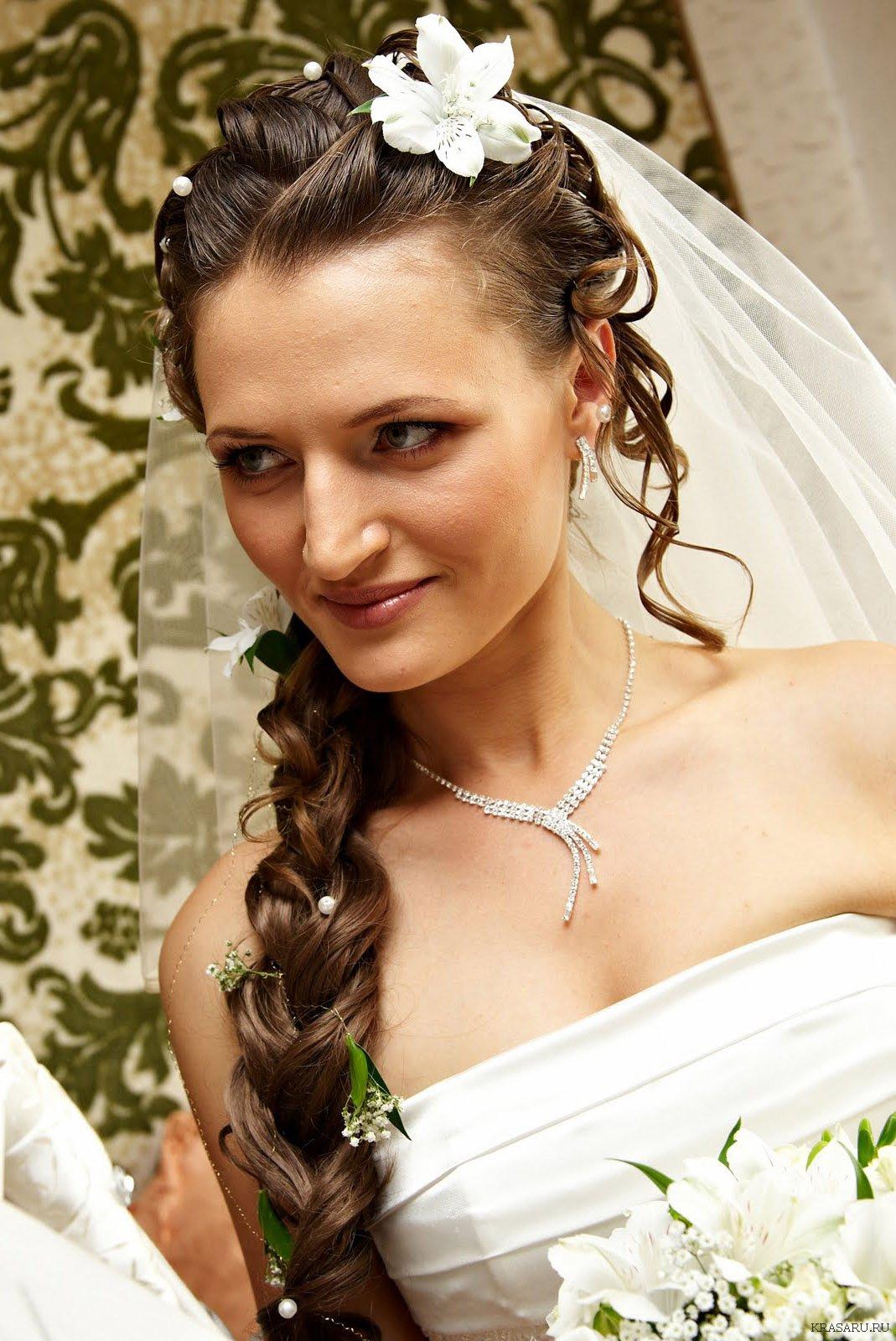 классные свадебные прически на длинные волосы фото