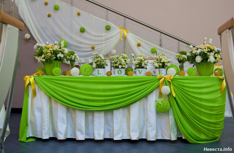 Свадьба в салатовых тонах